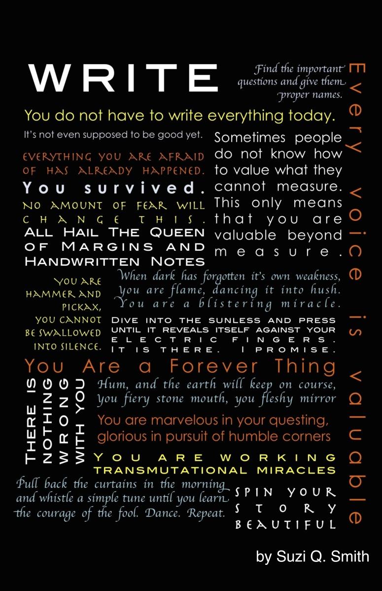 Writer's Manifesto - Suzi Q Smith